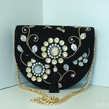 Black,Gold and Sliver Handbag