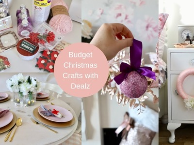 Budget friendly Christmas crafts and haul with Dealz (Poundland )| AD