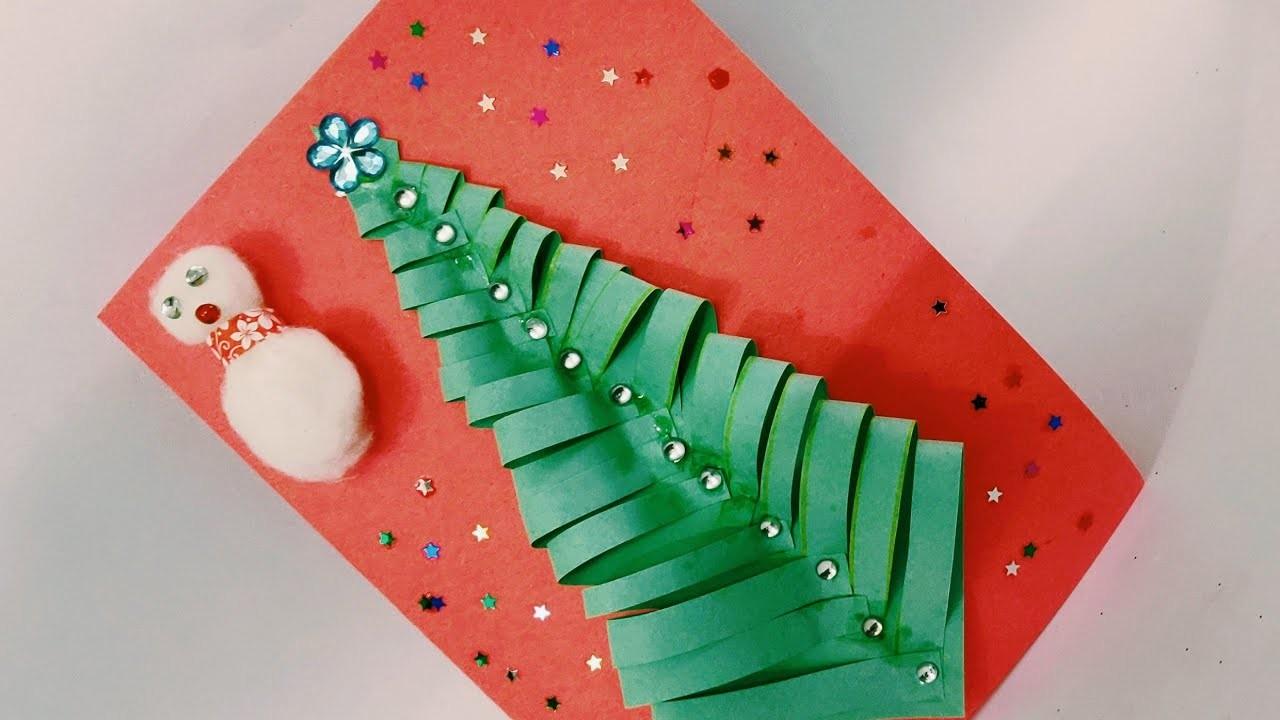 Christmas Greeting card idea | Christmas Easy Greeting card | New year Greeting | Christmas Card |