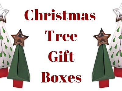 Christmas Tree Shaped Gift Boxes | Original Design | Christmas Workshop 2018