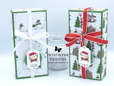 Crafty Christmas Countdown #17 - Large Gift Box From Santa's Workshop