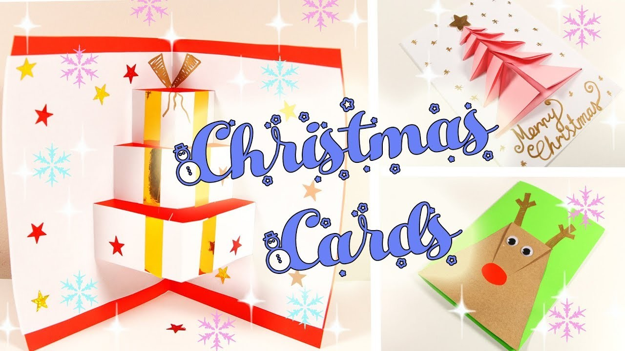 Easy Christmas And New Year Cards - How To Make - DIY