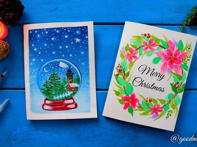 Easy Christmas Cards using Watercolour + GIVEAWAY