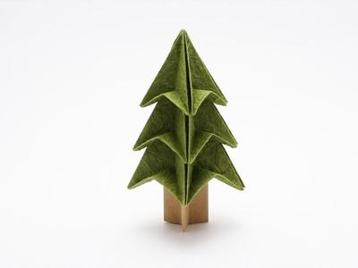 EASY CHRISTMAS TREE ORIGAMI (Jo Nakashima)