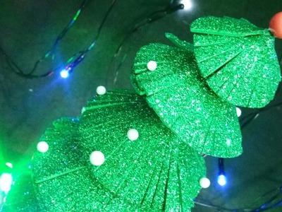 Glitter Foam Sheet Christmas Tree Making!