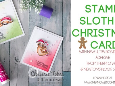 Have A Sloth-y Christmas! Card with Newton's Nook