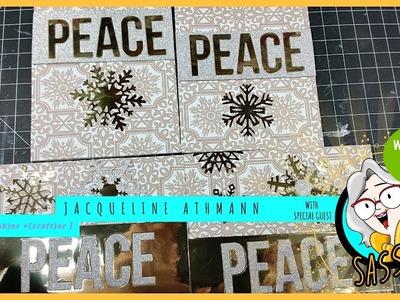 Holiday Greeting Card Ideas | DIY Christmas Cards 2018 - PEACE (MFT)