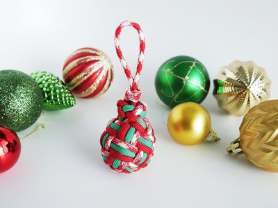 How To Make A Globe Knot Christmas Ornament | 3 Pass Globe Knot Tutorial