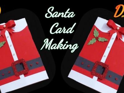 How to make Christmas greeting cards. Santa Christmas Card. merry Christmas card. Christmas card