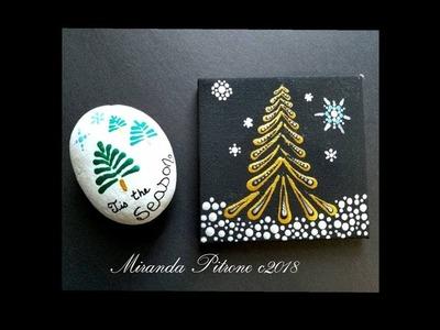 How to paint a basic Swipe Christmas Tree - Gold Metallic