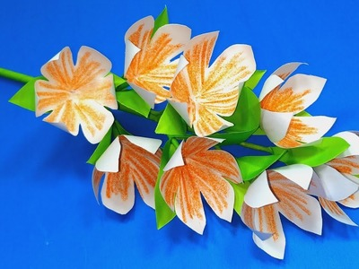 Paper Craft: Paper Flower Ideas | Handcraft Stick Flower Making Tutorial || Jarine's Crafty Creation