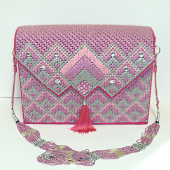 Pink and Sliver Bargello Handbag