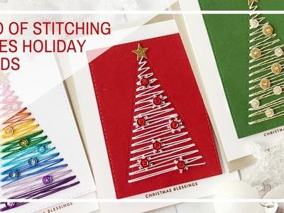 Simon Says Stamp | Trio of Stitching Trees Christmas Cards