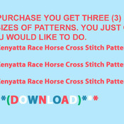 Zenyatta Race Horse Cross Stitch Pattern***LOOK***X***INSTANT DOWNLOAD***