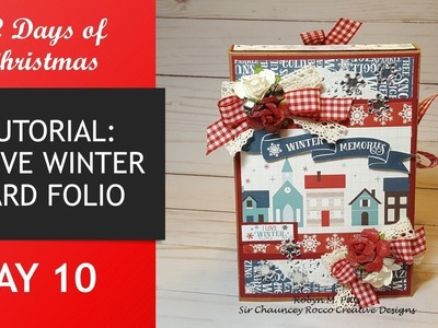 12 Days of Christmas | Day 10 | I Love Winter Card Folio | TUTORIAL