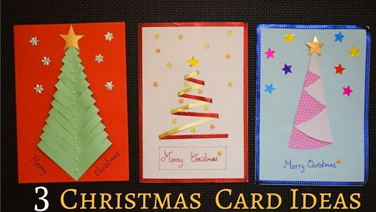 Ideas For Christmas Cards Handmade.3 Easy Christmas Card Making Ideas Handmade Christmas
