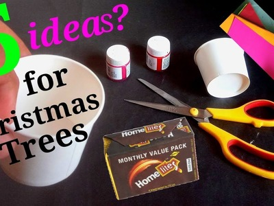 5 Easy Christmas Tree making and Home decoration Ideas from waste things around you