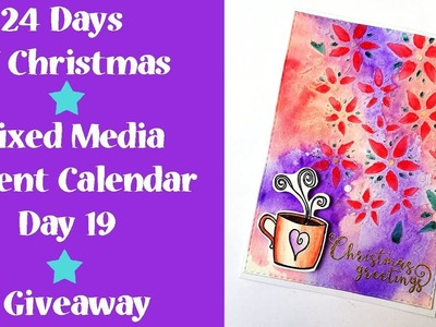Christmas Card with Brushos - Advent Calendar Giveaway Day #19