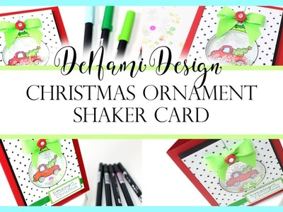 Christmas Ornament Shaker Card by DeNami Design
