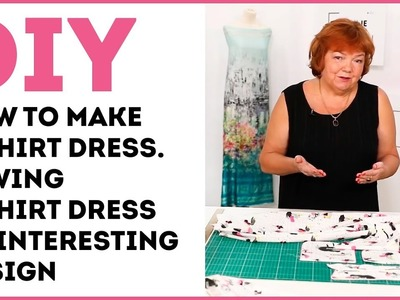 DIY: How to make a shirt dress. Sewing a shirt dress of interesting design.
