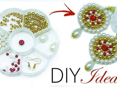 How to make earrings | Jewelry making | Beads art