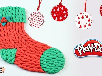 How To Make Play Doh Christmas Stocking | Christmas Stocking For Children | Play Doh For Kids
