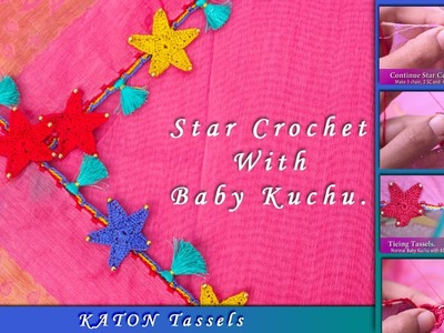 How to make Star crochet (Saree Kuchu) | New Saree Kuchu Design | Tamil