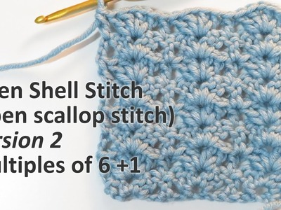 Open Shell. Scallop Stitch v2 - Crochet Stitch Library