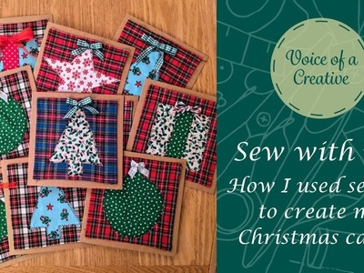 Sew with Me- How I used sewing to create my Christmas cards.