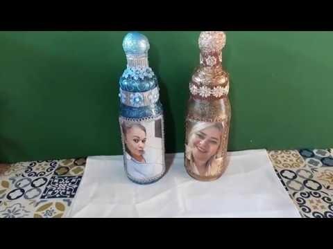 #136#Arte com garrafa #artesanato#reciclagem#botelha
