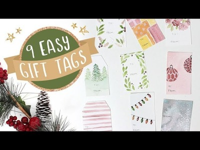 9 Easy DIY Watercolor Gift Tags | 2018 Holiday Card Series