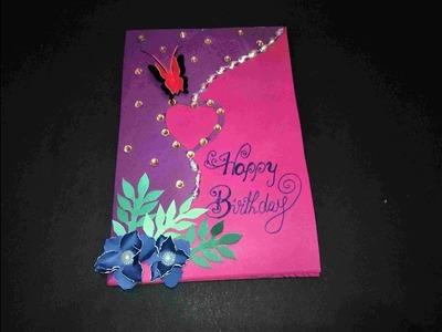 Beautiful Handmade Birthday Card For Girlfriend Or Boyfriend