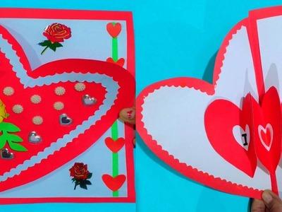 Beautiful Handmade Birthday.Valentine's Day Card Idea.Latest Card Design