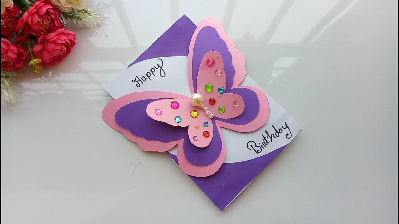 Card, New year greeting card|| How to make 3d greeting ...