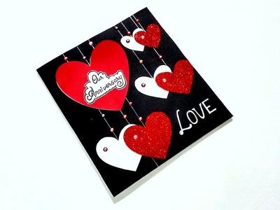 Beautiful Handmade card idea for ANNIVERSARY. LOVE | Handmade card idea | Tutorial