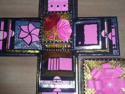 Birthday. Anniversary. valentines day Explosion box ideas   Handmade gift ideas   best gift????????