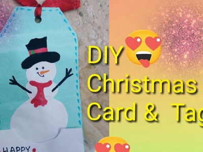 Christmas card and gift tag || handmade gift tag || Christmas gift ideas ||