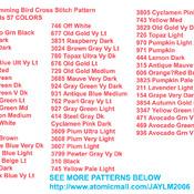 Colorful Humming Bird Cross Stitch Pattern***LOOK***