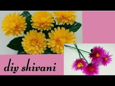 Dahlia Flower from drinking straw's | DIY SHIVANI |