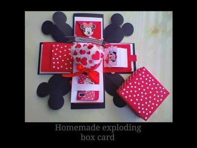 Exploding Box Ideas    Easy Exploding Box Ideas    Handmade Gift    Mikkie Mouse Theme