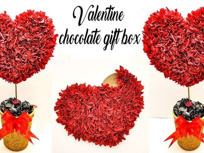 How to make best gift for valentines day | valentines day handmade chocolate gift box
