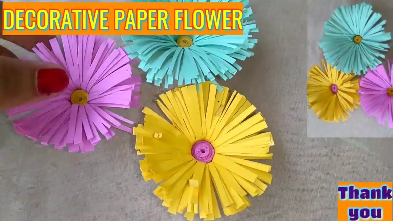 How To Make Paper Flowers Very Easy Gift Decoration Origami Paper