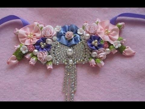 Necklace Bib Tutorial Using Handmade Flowers - jennings644