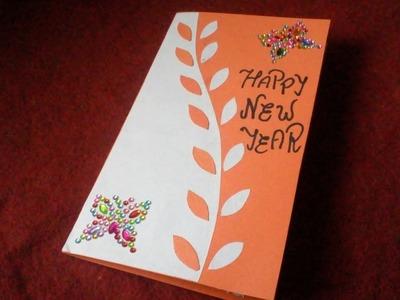 Card Beautiful New Year Greeting Card Handmade 2019 Christmas