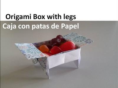 #Origami Candy Box with legs - Caja de papel con patas