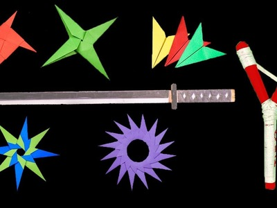 Top 07 Easy Origami Ninja Star.sword.Knife - How to make
