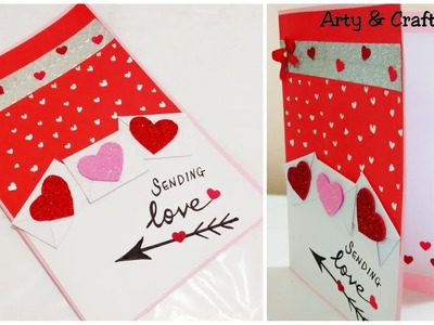 Valentine Day Card.Handmade Card Ideas.Anniversary Card.Easy Card for Boyfriend by Arty & Crafty