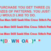 Wise Men Still Seek Him Cross Stitch Pattern***LOOK***X***INSTANT DOWNLOAD***
