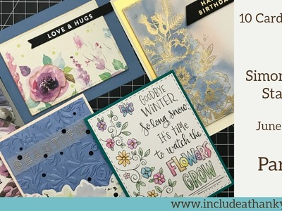 10 Cards - 1 Kit | Simon Says Stamp Monthly Card Kit June 2018 | Part 1