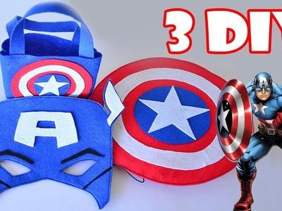 3 crafts of Captain America for kids ✔ 100% Felt ???? Ovejita Craft